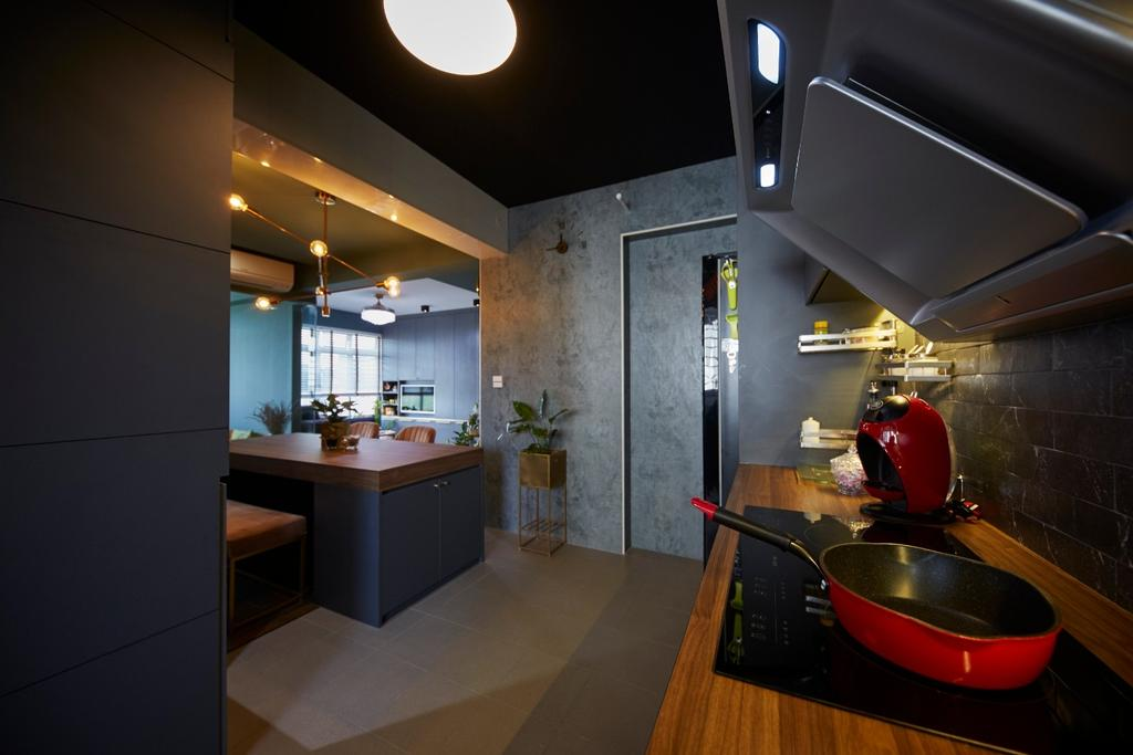 Contemporary, HDB, Kitchen, Anchorvale Road, Interior Designer, Carpenters 匠
