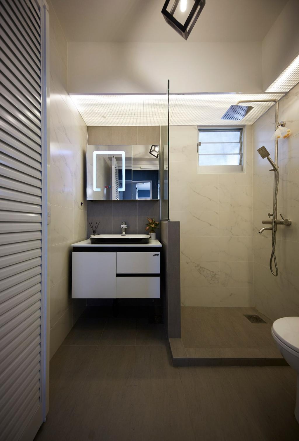 Contemporary, HDB, Bathroom, Anchorvale Road, Interior Designer, Carpenters 匠