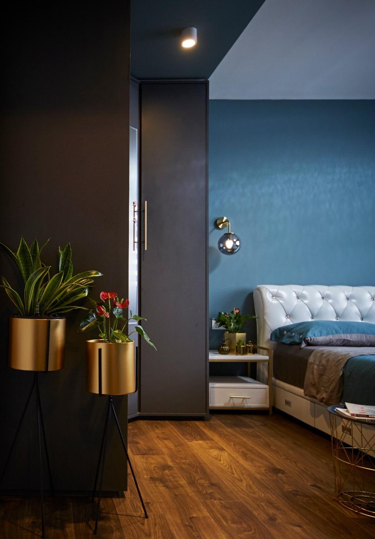 Contemporary, HDB, Bedroom, Anchorvale Road, Interior Designer, Carpenters 匠