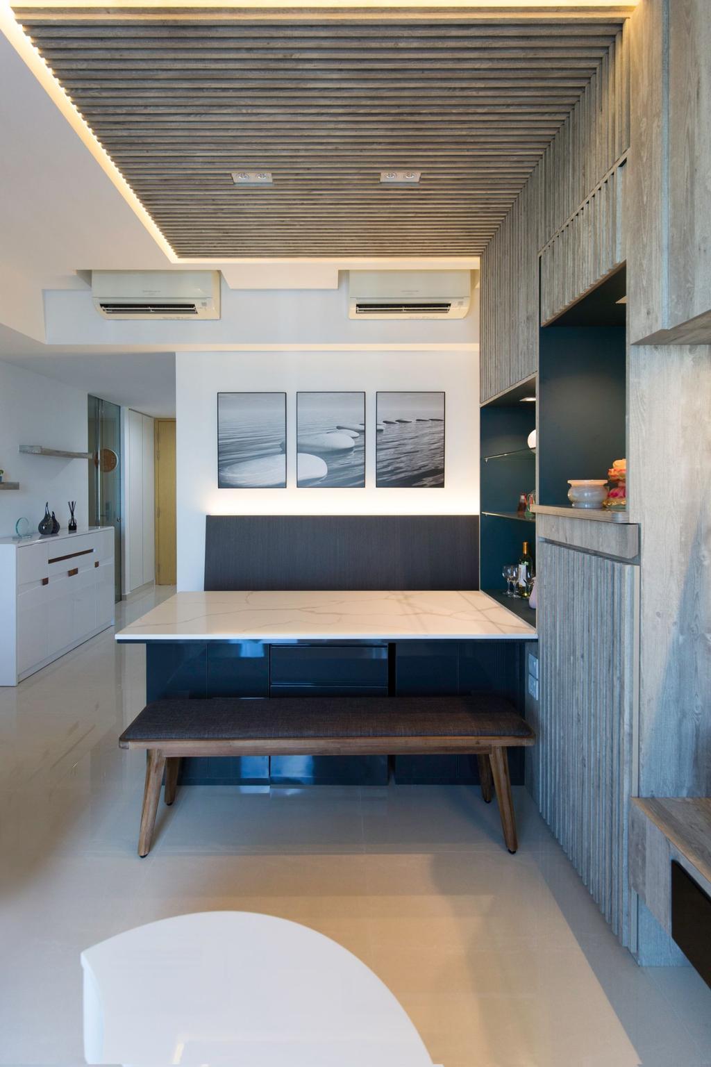 Contemporary, Condo, Dining Room, H2O Residences, Interior Designer, Carpenters 匠