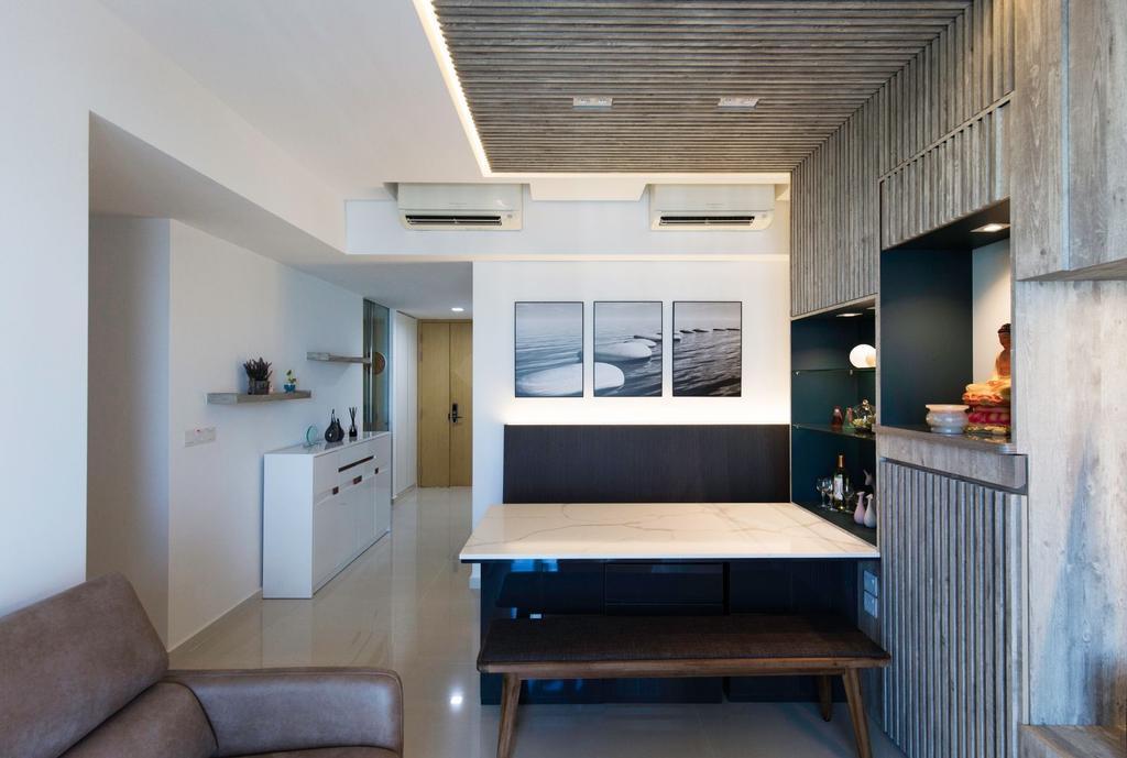 Contemporary, Condo, Living Room, H2O Residences, Interior Designer, Carpenters 匠
