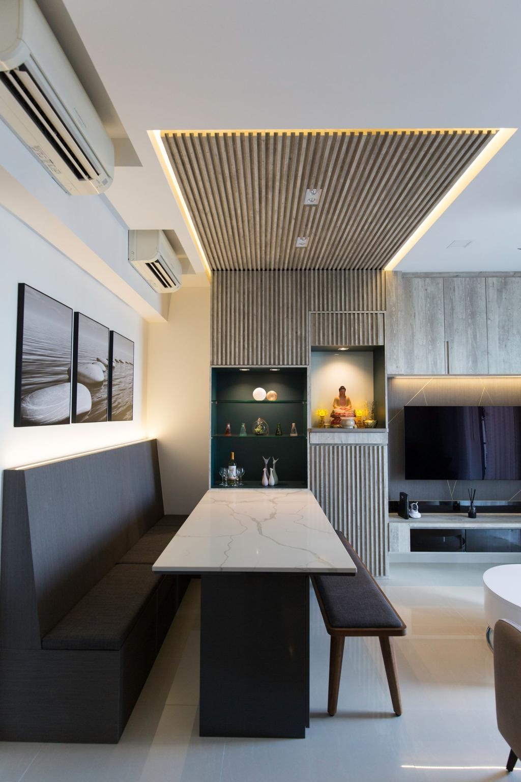 Contemporary, Condo, H2O Residences, Interior Designer, Carpenters 匠