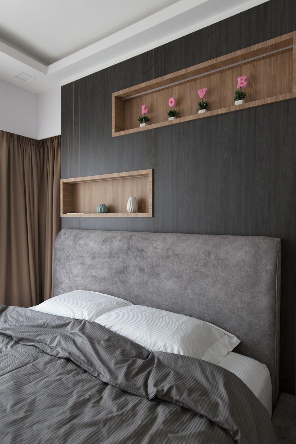 Contemporary, Condo, Bedroom, H2O Residences, Interior Designer, Carpenters 匠