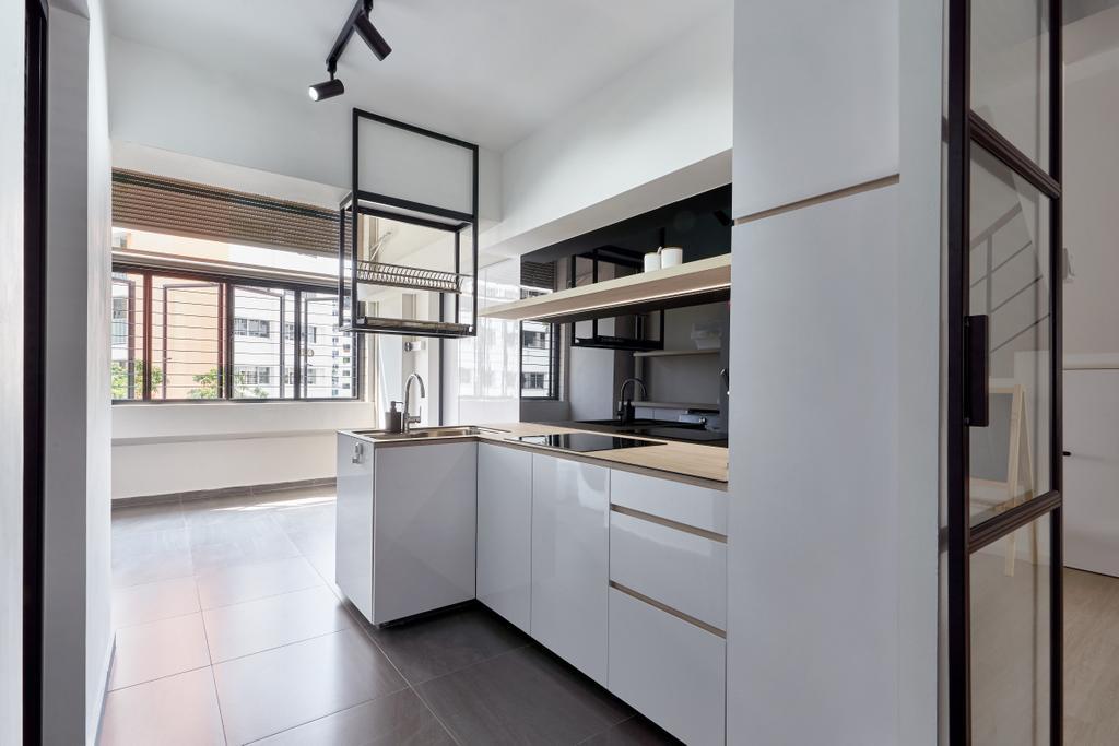 Scandinavian, HDB, Kitchen, Hougang Avenue 5, Interior Designer, The Design Practice