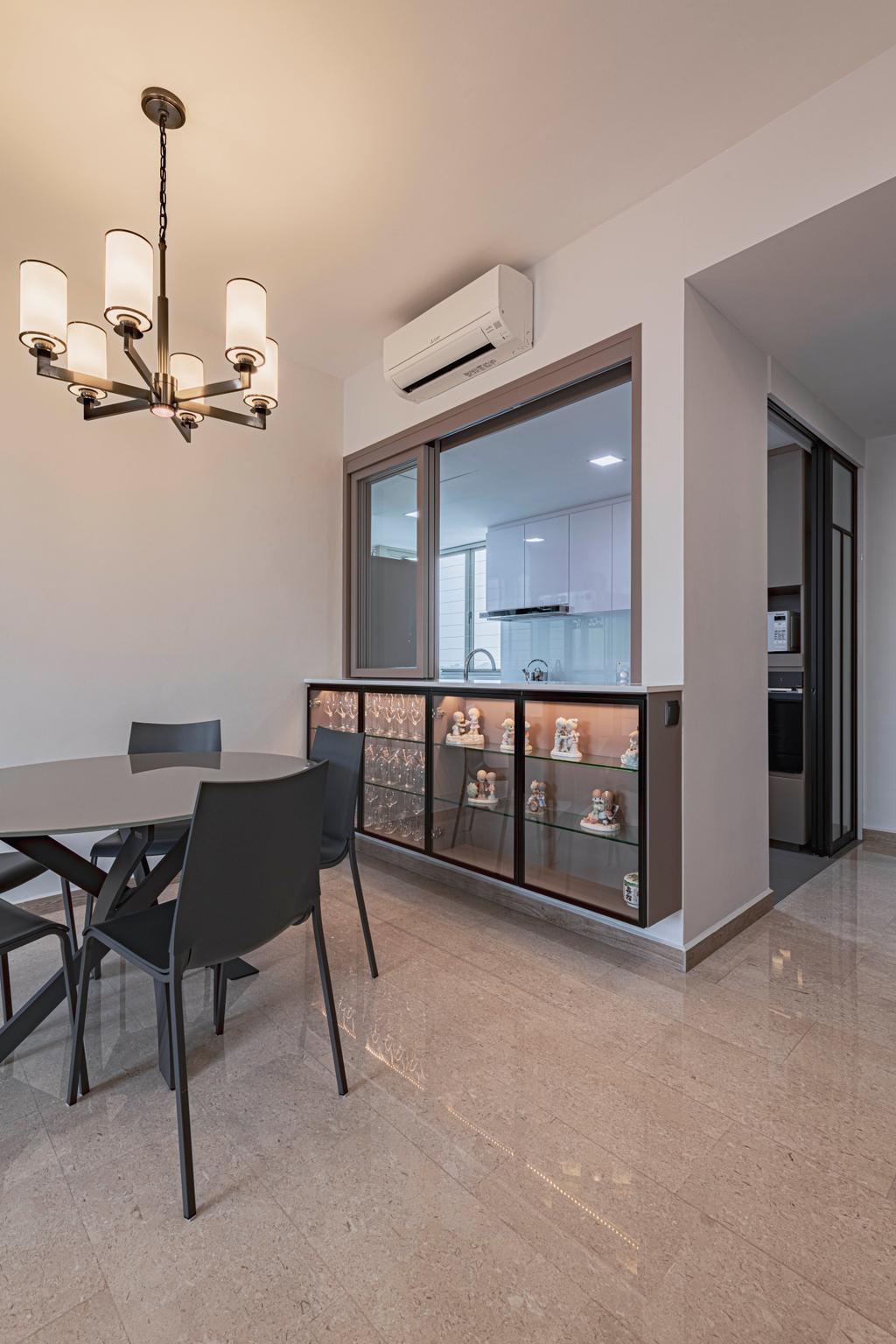 Modern, Condo, Dining Room, Rosewood, Interior Designer, DS 2000 Interior & Design