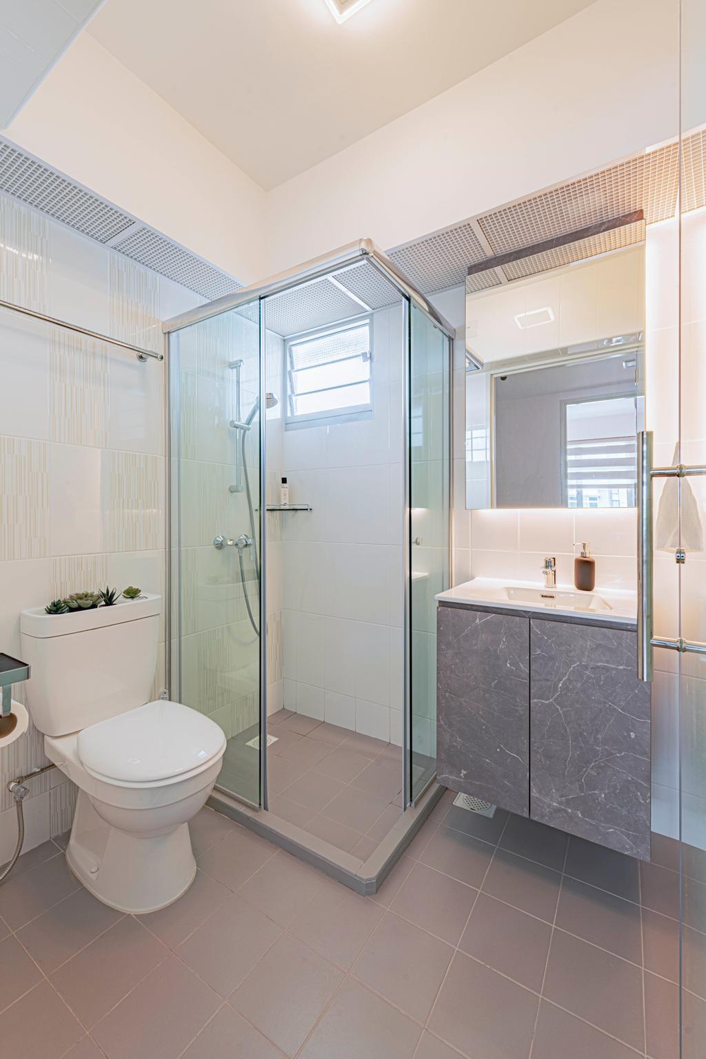 Modern, HDB, Bathroom, Circuit Road, Interior Designer, DS 2000 Interior & Design, Scandinavian