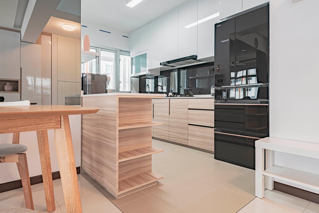 Modern, HDB, Kitchen, Circuit Road, Interior Designer, DS 2000 Interior & Design, Scandinavian