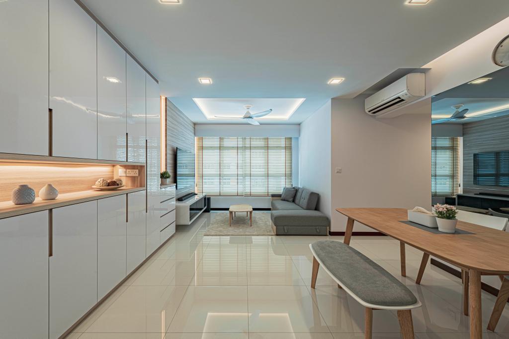 Modern, HDB, Living Room, Circuit Road, Interior Designer, DS 2000 Interior & Design, Scandinavian