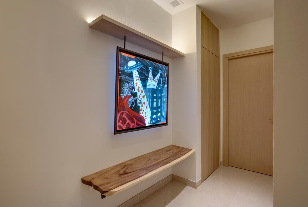 Contemporary, Landed, Living Room, Belgravia Villas, Interior Designer, The Design Practice, Shoe Settee, Shoe Bench, Entryway, Hallway, Foyer, Wall Bench