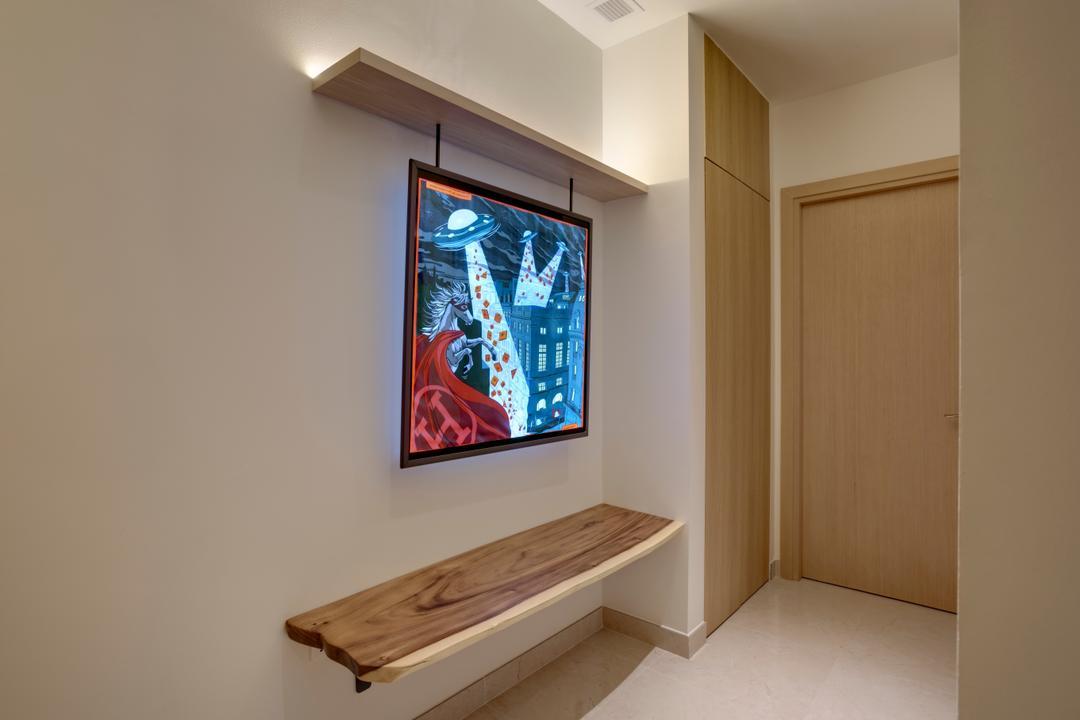 Belgravia Villas, The Design Practice, Contemporary, Living Room, Landed, Shoe Settee, Shoe Bench, Entryway, Hallway, Foyer, Wall Bench