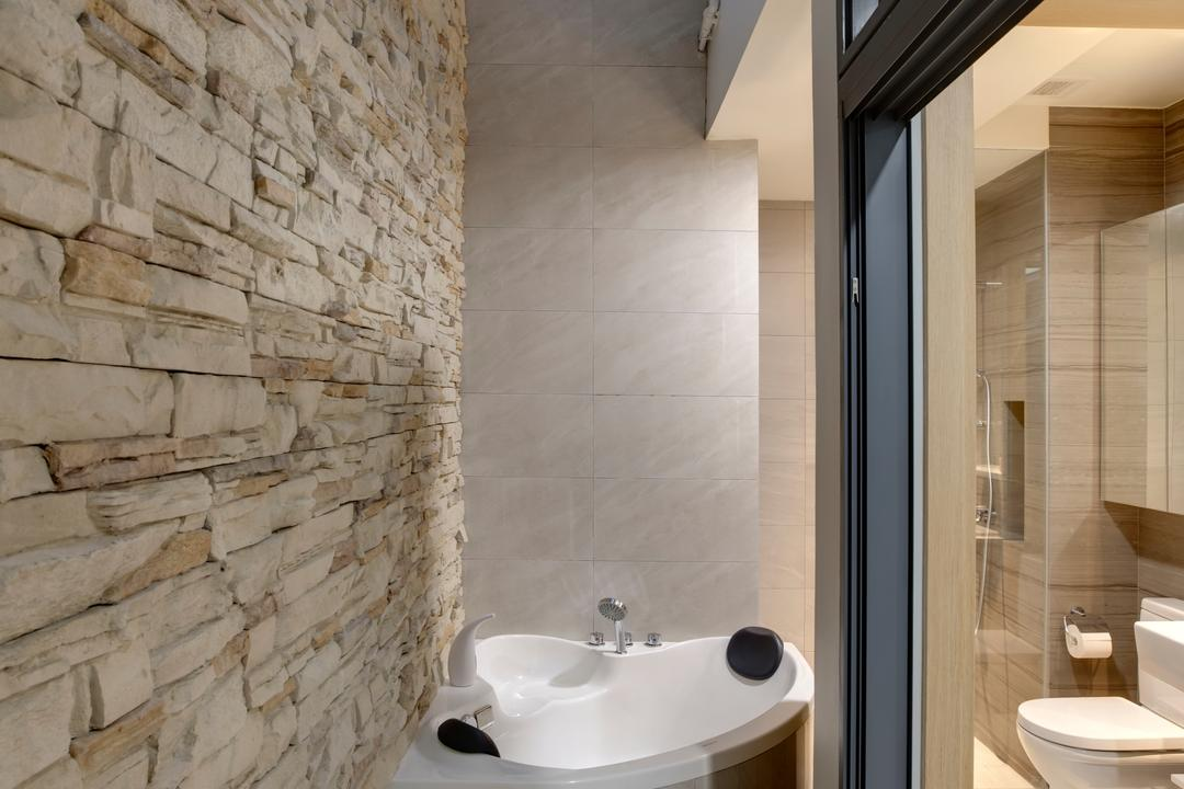 Belgravia Villas, The Design Practice, Contemporary, Bathroom, Landed, Jacuzzi, Spa, Bath Tub, Bathtub, Airwell