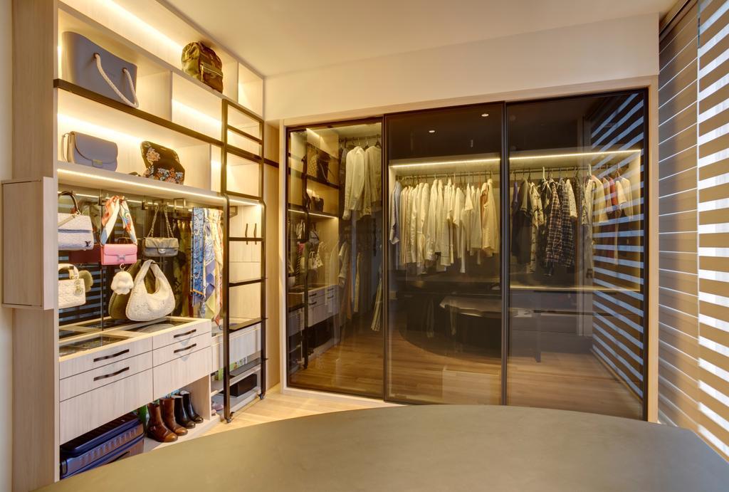 Contemporary, Landed, Bedroom, Belgravia Villas, Interior Designer, The Design Practice, Wardrobe, Walk In Wardrobe, Dresser, Dressing Room