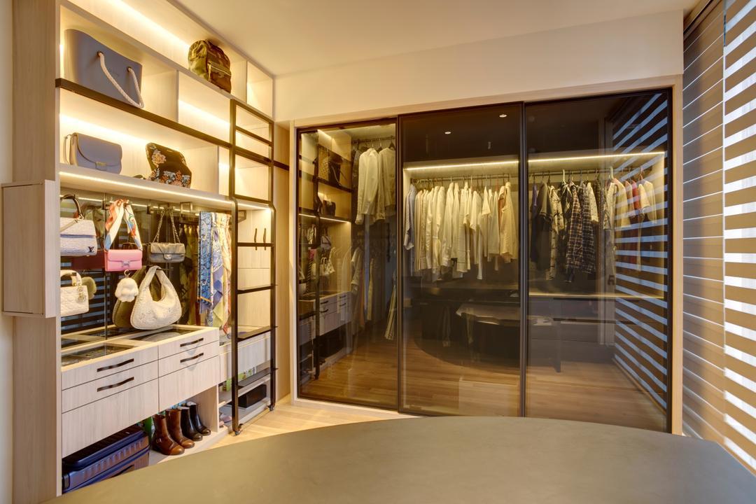 Belgravia Villas, The Design Practice, Contemporary, Bedroom, Landed, Wardrobe, Walk In Wardrobe, Dresser, Dressing Room