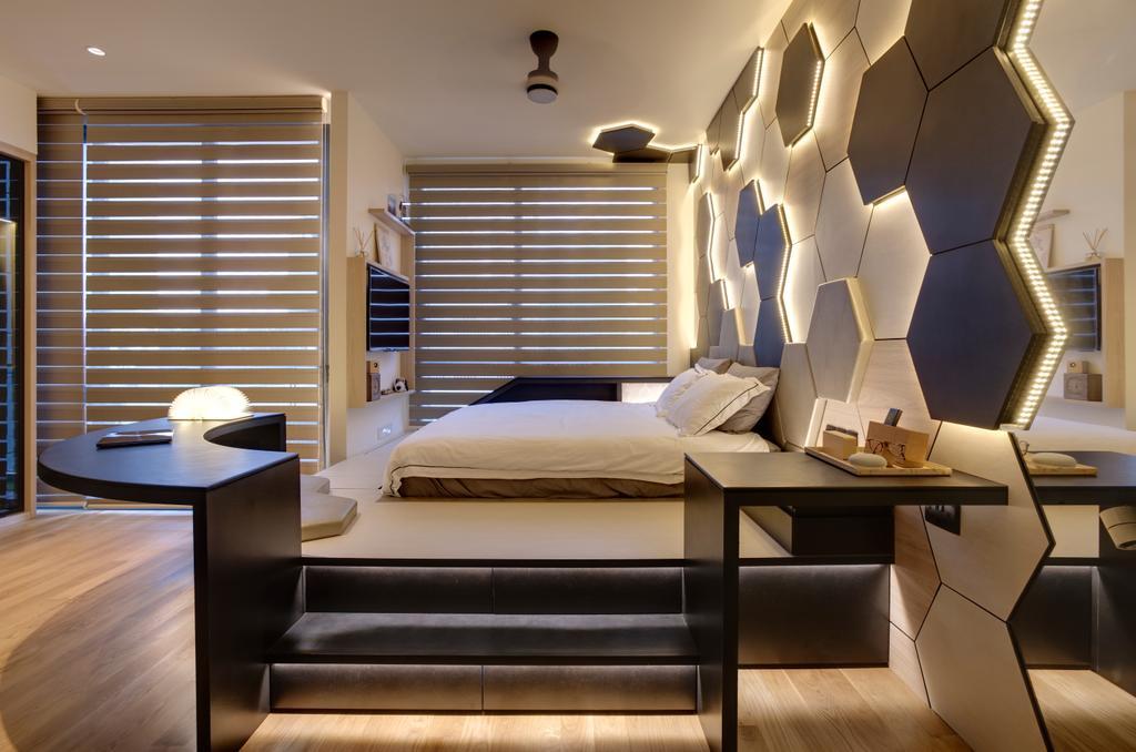 Contemporary, Landed, Bedroom, Belgravia Villas, Interior Designer, The Design Practice, Platform Bed