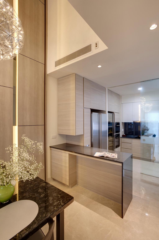 Contemporary, Landed, Kitchen, Belgravia Villas, Interior Designer, The Design Practice, Kitchen Island