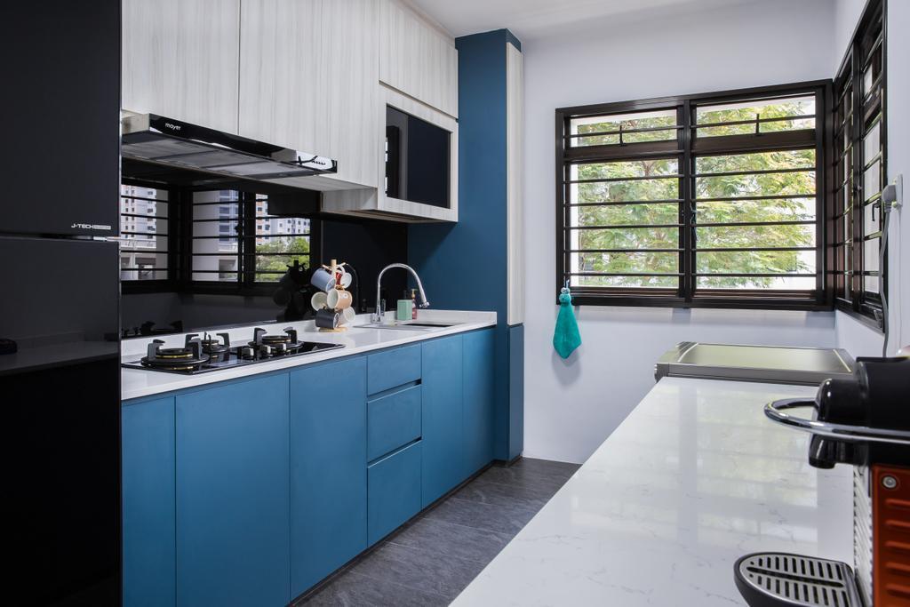 Contemporary, HDB, Kitchen, Compassvale Drive, Interior Designer, Interior Times