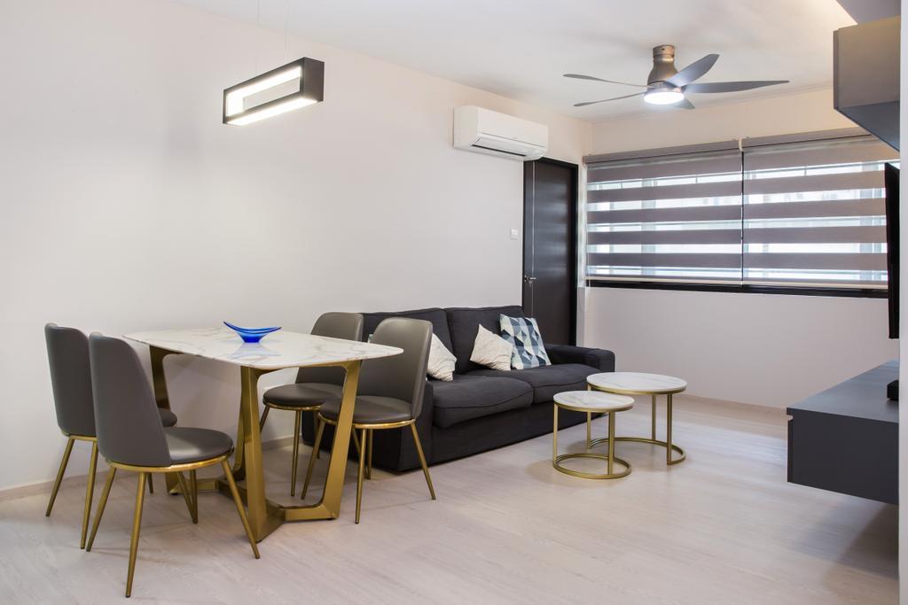 Contemporary, HDB, Living Room, Compassvale Drive, Interior Designer, Interior Times