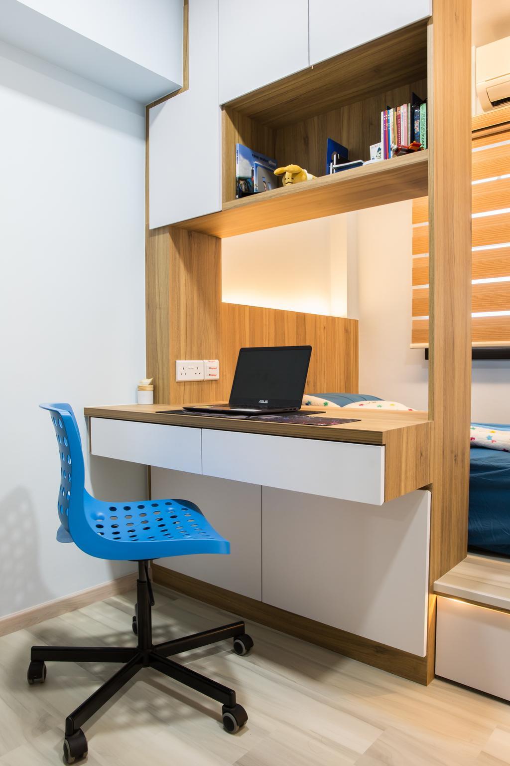 Contemporary, HDB, Study, Compassvale Drive, Interior Designer, Interior Times