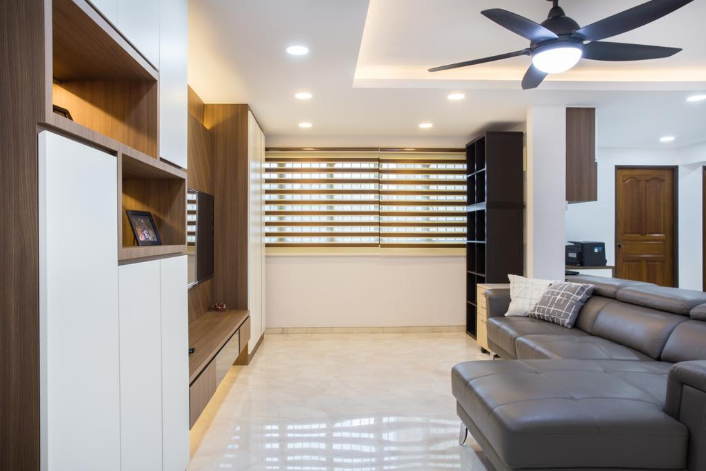 Contemporary, HDB, Living Room, Compassvale Road, Interior Designer, Interior Times