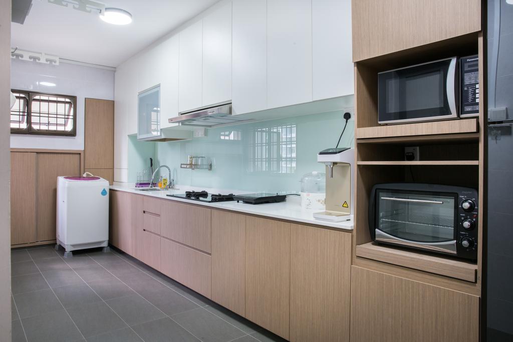 Contemporary, HDB, Kitchen, Compassvale Road, Interior Designer, Interior Times