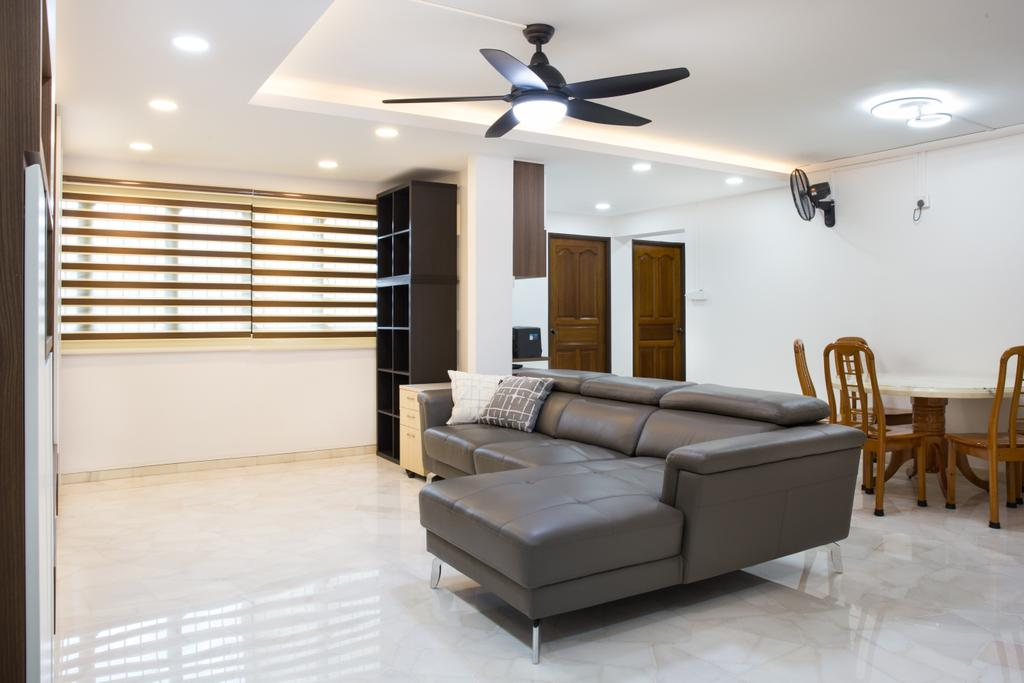Contemporary, HDB, Living Room, Compassvale Road, Interior Designer, Interior Times
