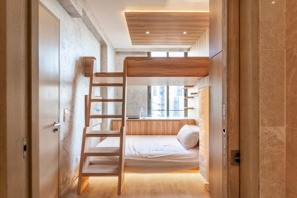 Modern, Condo, Bedroom, One Robin, Interior Designer, Mr Shopper Studio, Bunk Bed, Kids Room, Double Deck, Carpentry