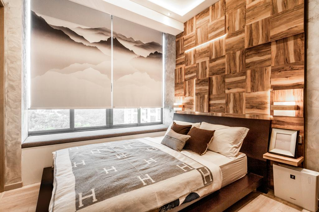 Modern, Condo, Bedroom, One Robin, Interior Designer, Mr Shopper Studio, Feature Wall, Bedroom Wall