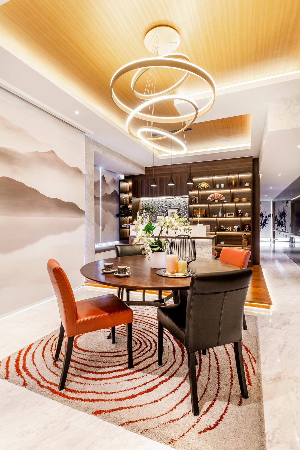 Modern, Condo, Dining Room, One Robin, Interior Designer, Mr Shopper Studio