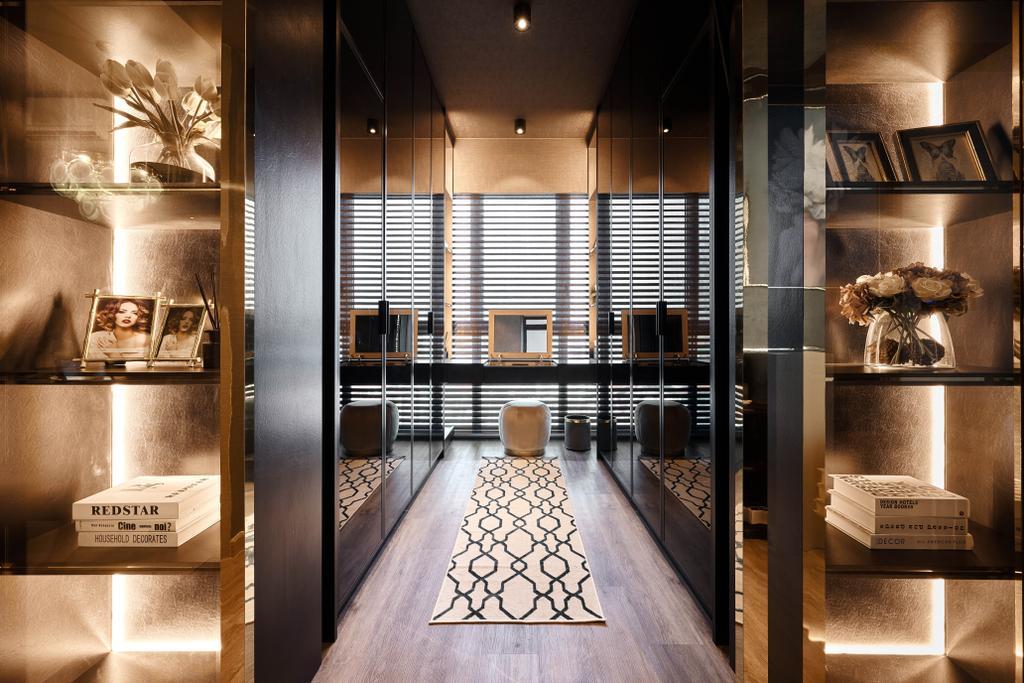 Contemporary, Condo, Bedroom, Botanique At Bartley, Interior Designer, Mr Shopper Studio, Modern, Eclectic, Walk In Wardrobe, Wardrobe, Dresser, Vanity, Dressing Room