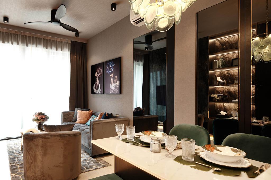 Contemporary, Condo, Dining Room, Botanique At Bartley, Interior Designer, Mr Shopper Studio, Modern, Eclectic