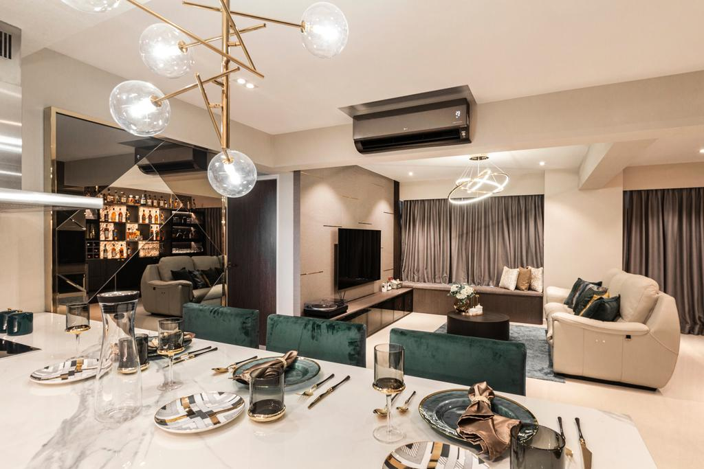 Contemporary, HDB, Dining Room, Circuit Road, Interior Designer, Mr Shopper Studio, Modern