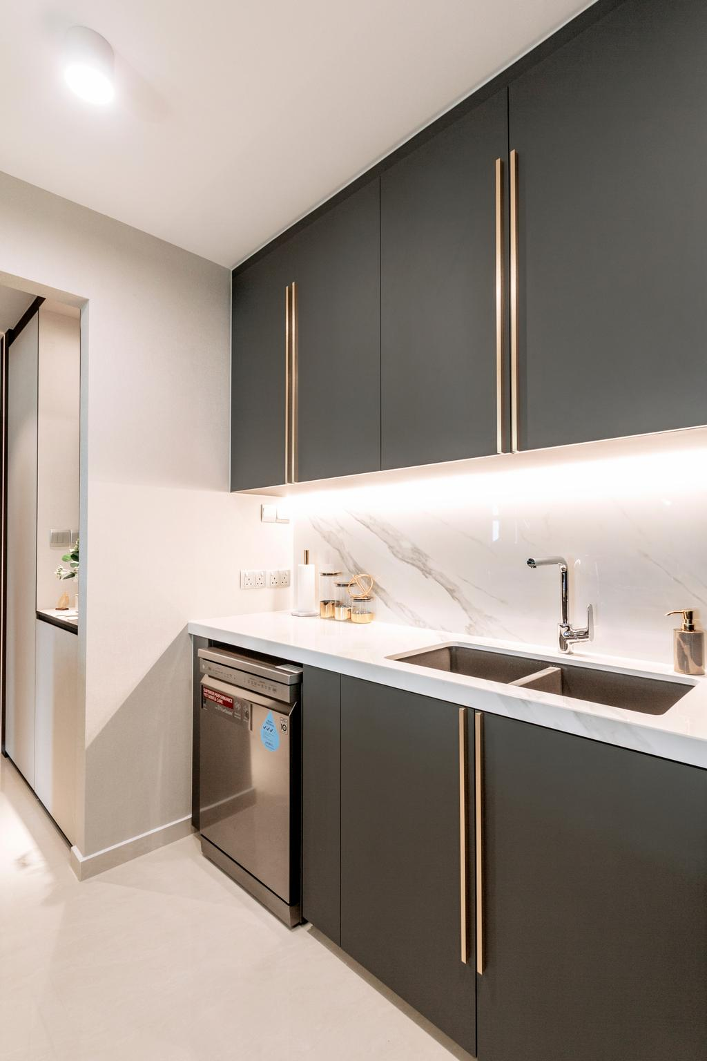 Contemporary, HDB, Kitchen, Circuit Road, Interior Designer, Mr Shopper Studio, Modern