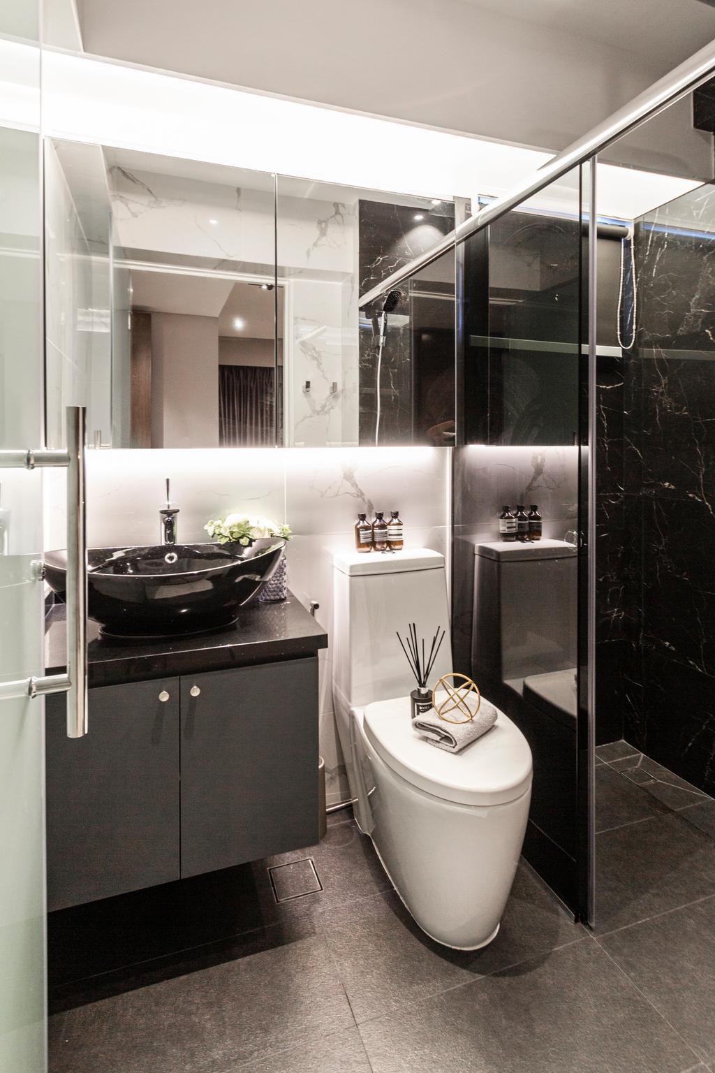 Contemporary, HDB, Bathroom, Circuit Road, Interior Designer, Mr Shopper Studio, Modern, Marble