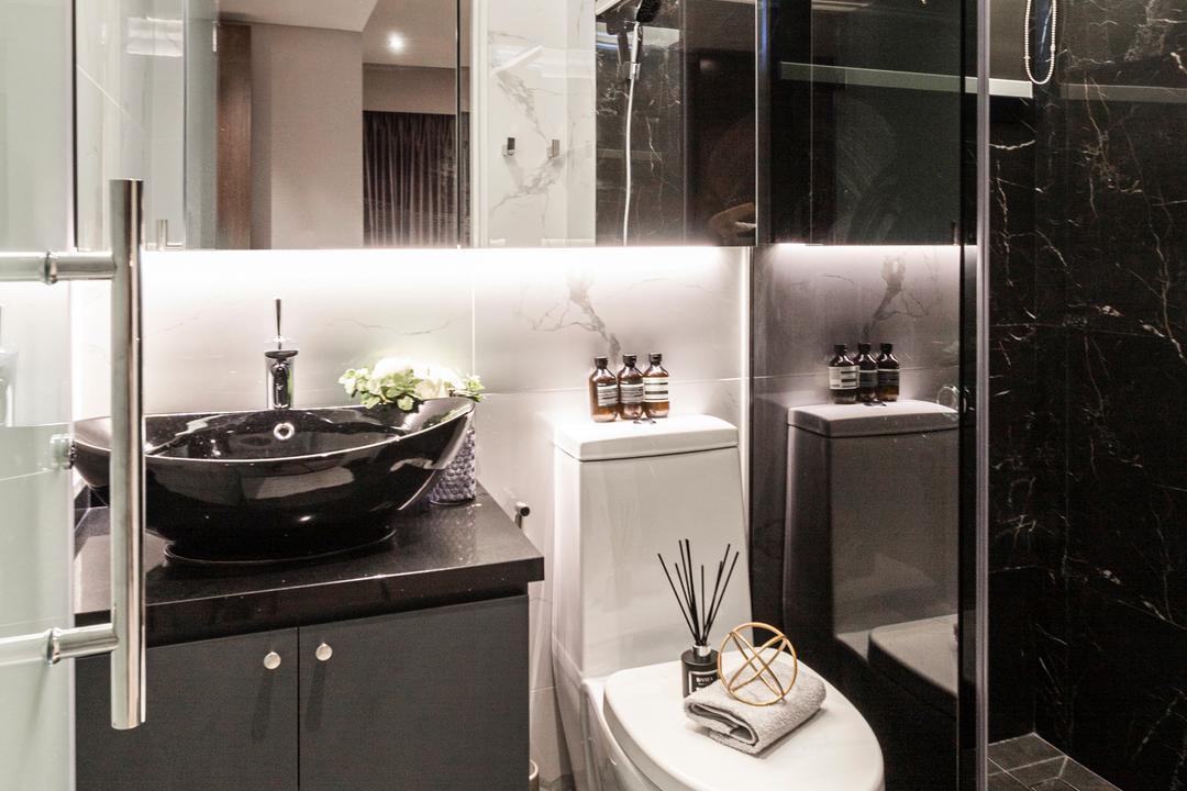 Circuit Road, Mr Shopper Studio, Contemporary, Modern, Bathroom, HDB, Marble