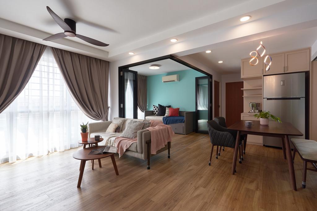 Contemporary, HDB, Punggol Road, Interior Designer, Charlotte's Carpentry