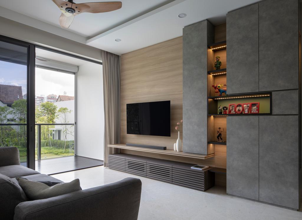 Contemporary, Condo, Living Room, Thomson Impressions, Interior Designer, Prozfile Design