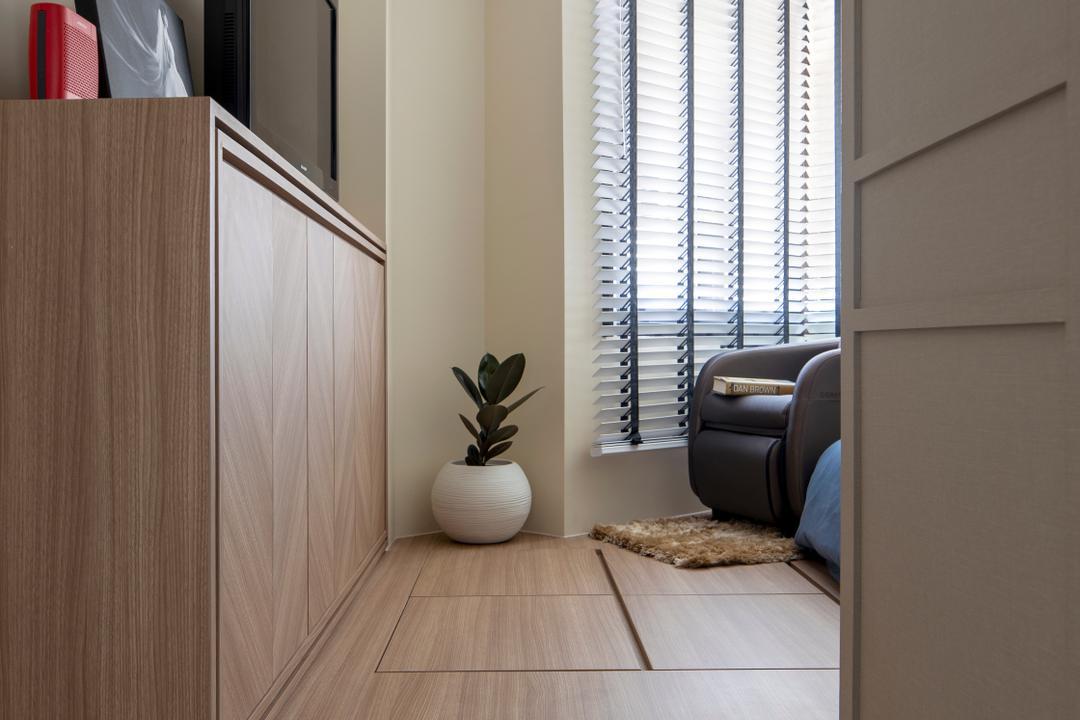 Cambridge Road, Prozfile Design, Contemporary, Bedroom, HDB, Platform