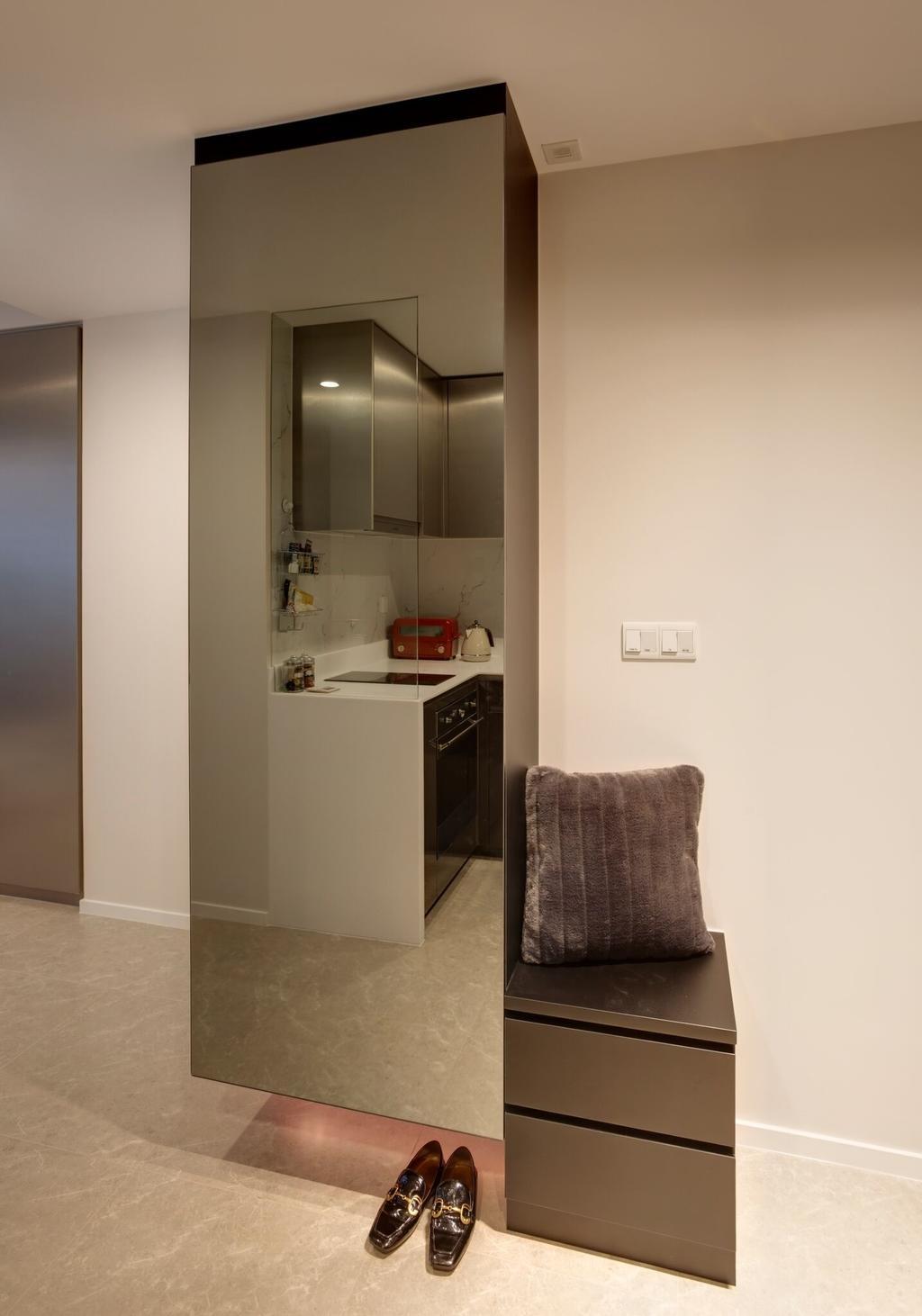Contemporary, Condo, Living Room, The Clement Canopy, Interior Designer, Space Factor