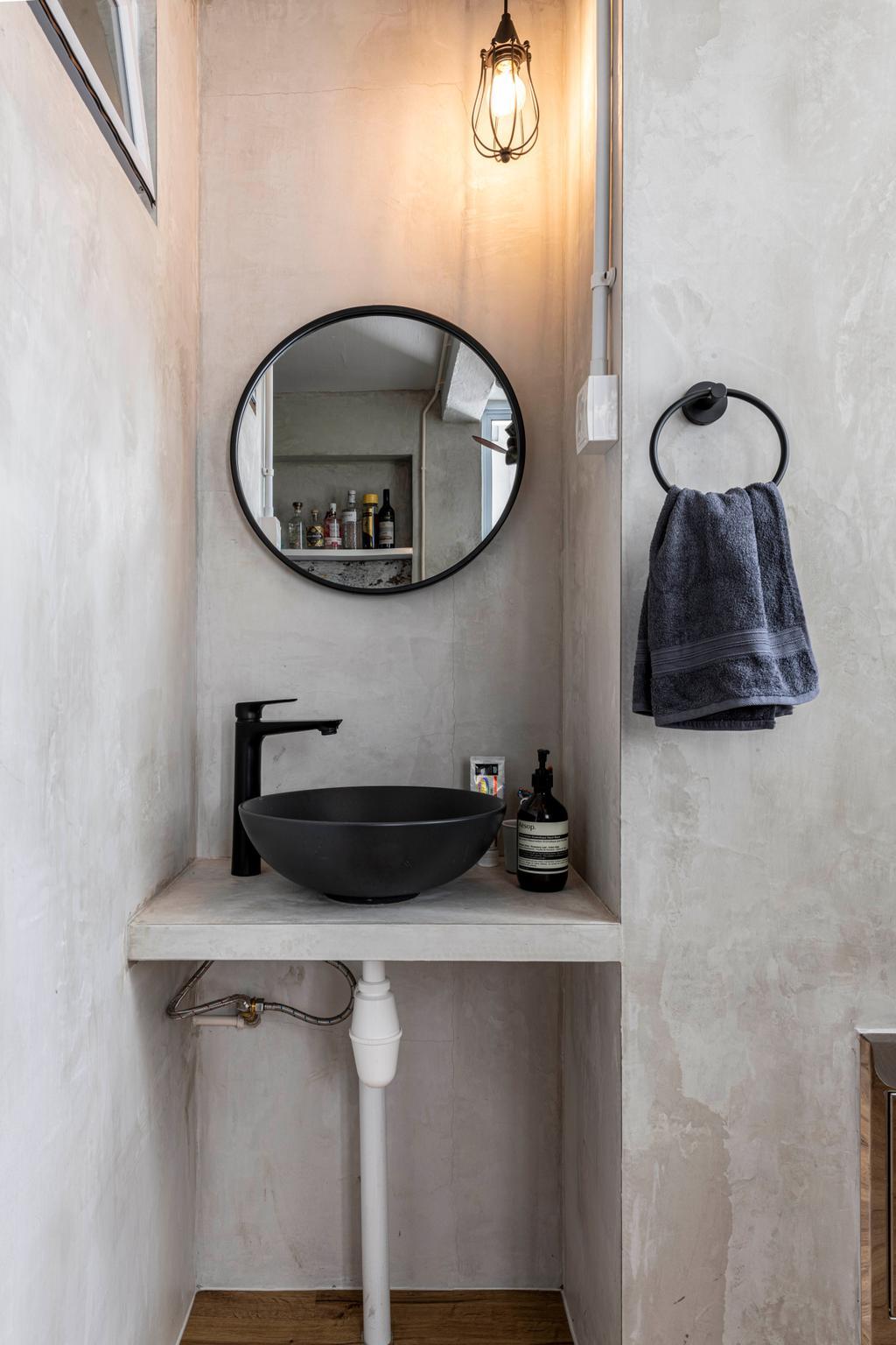 Industrial, HDB, Bathroom, Jalan Bukit Ho Swee, Interior Designer, Butler Interior, Scandinavian