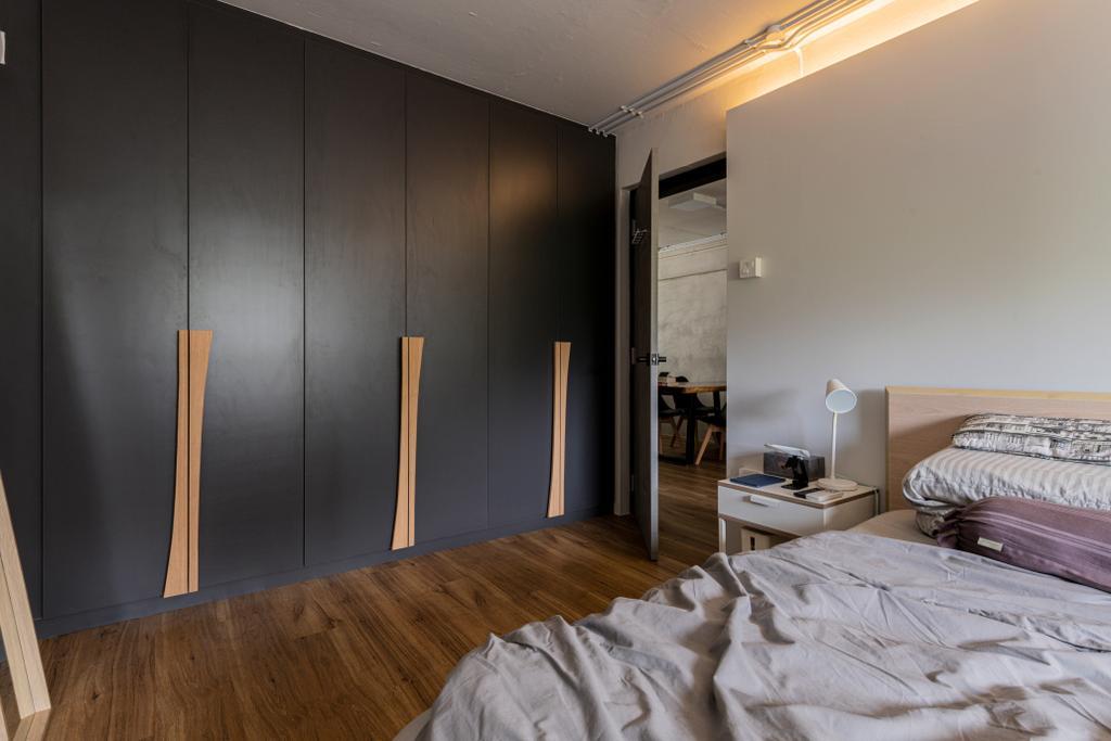 Industrial, HDB, Bedroom, Jalan Bukit Ho Swee, Interior Designer, Butler Interior, Scandinavian