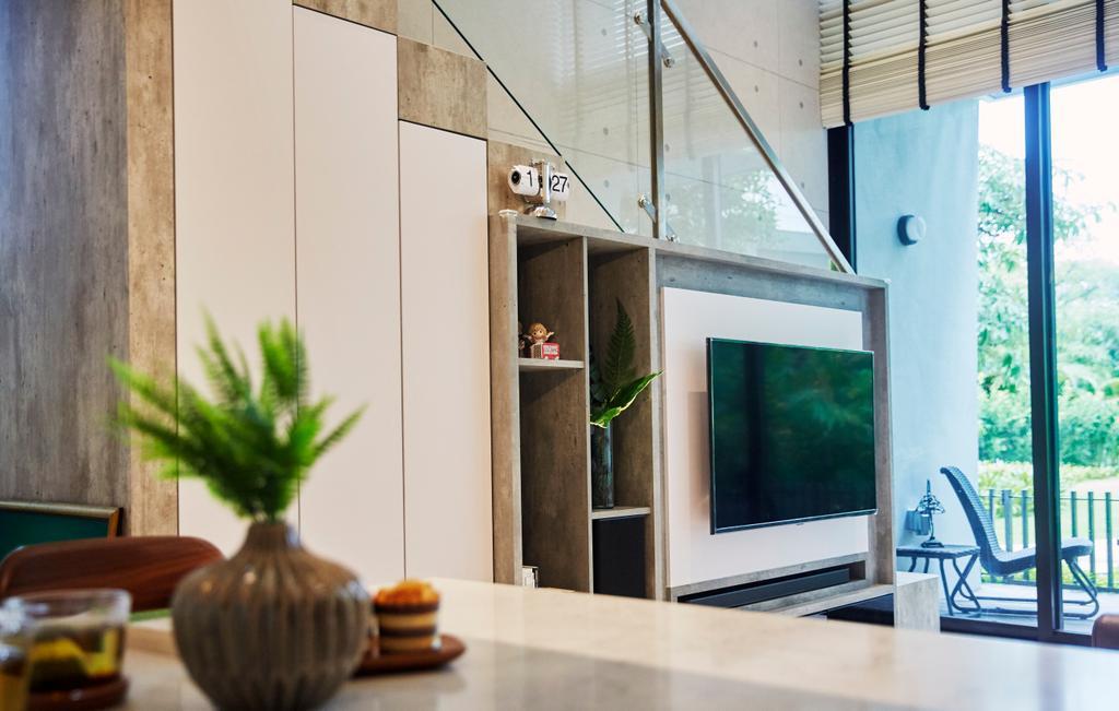 Contemporary, Condo, Living Room, Princes Charles Crescent, Interior Designer, i-Chapter