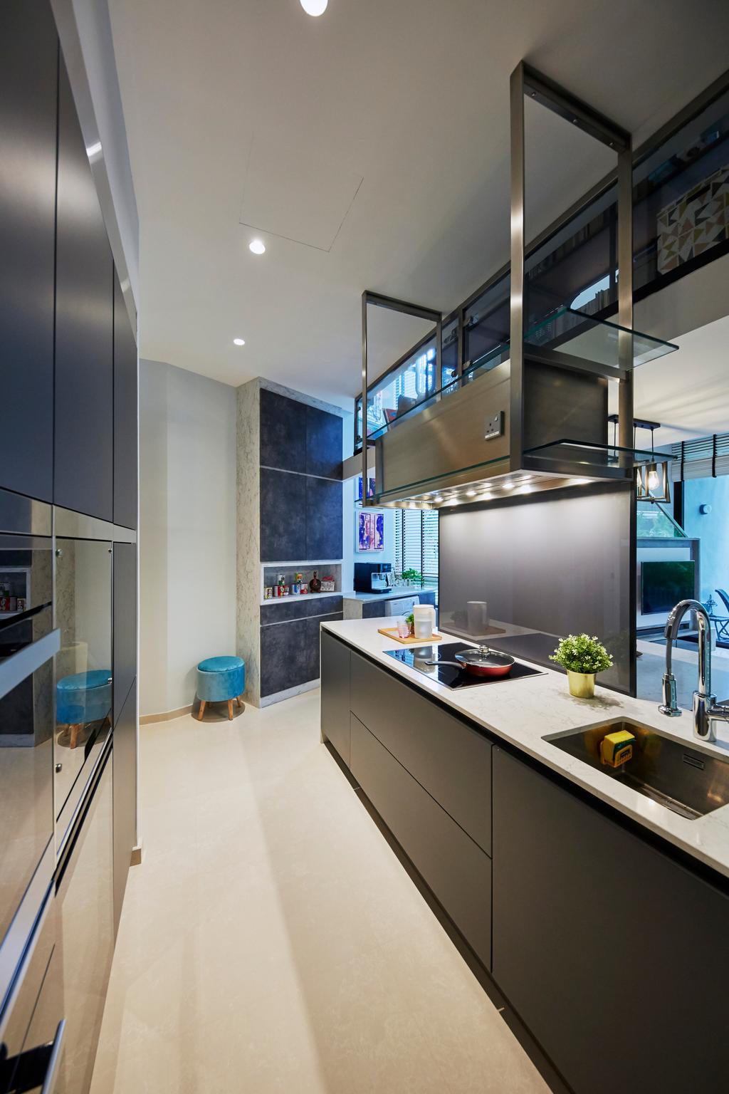 Contemporary, Condo, Kitchen, Princes Charles Crescent, Interior Designer, i-Chapter