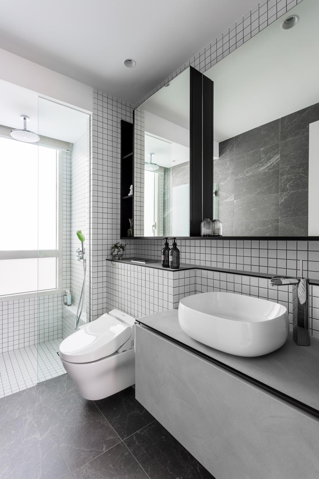 Contemporary, Condo, Bathroom, The Seaview, Interior Designer, Habit, Modern