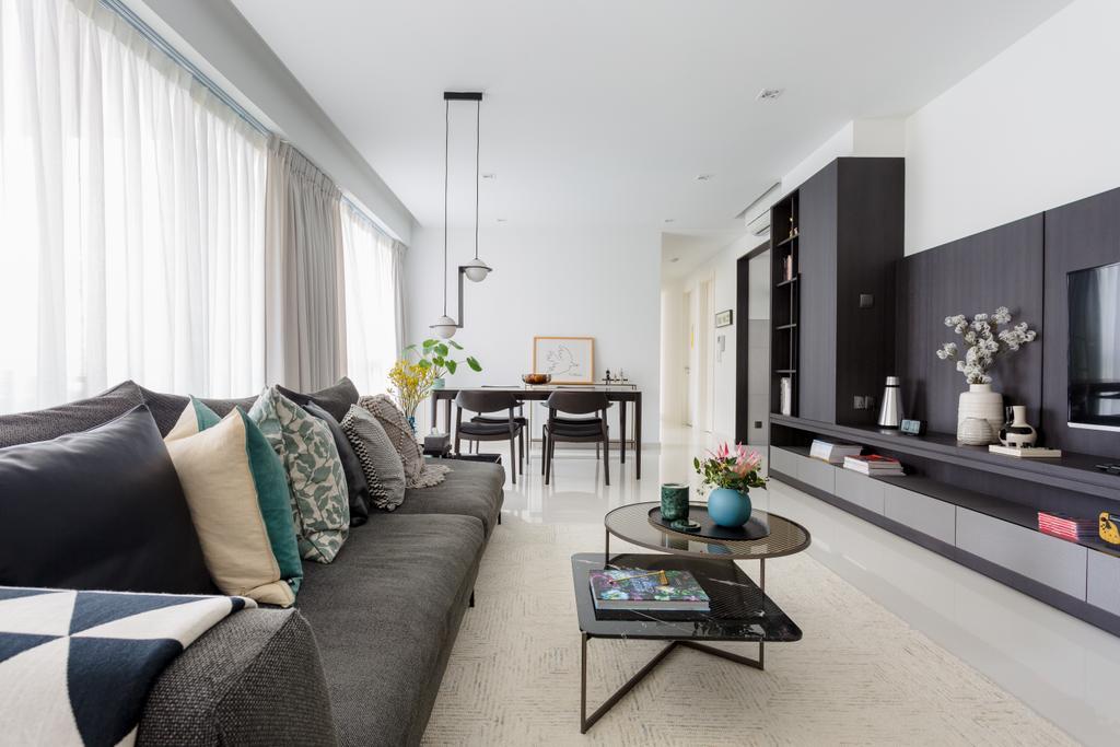 Contemporary, Condo, Living Room, The Seaview, Interior Designer, Habit, Modern