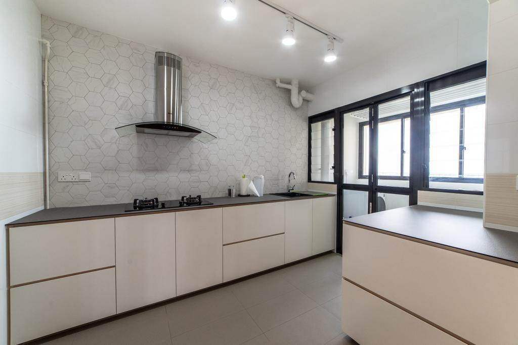Contemporary, HDB, Kitchen, Toa Payoh East, Interior Designer, Luova Project Services