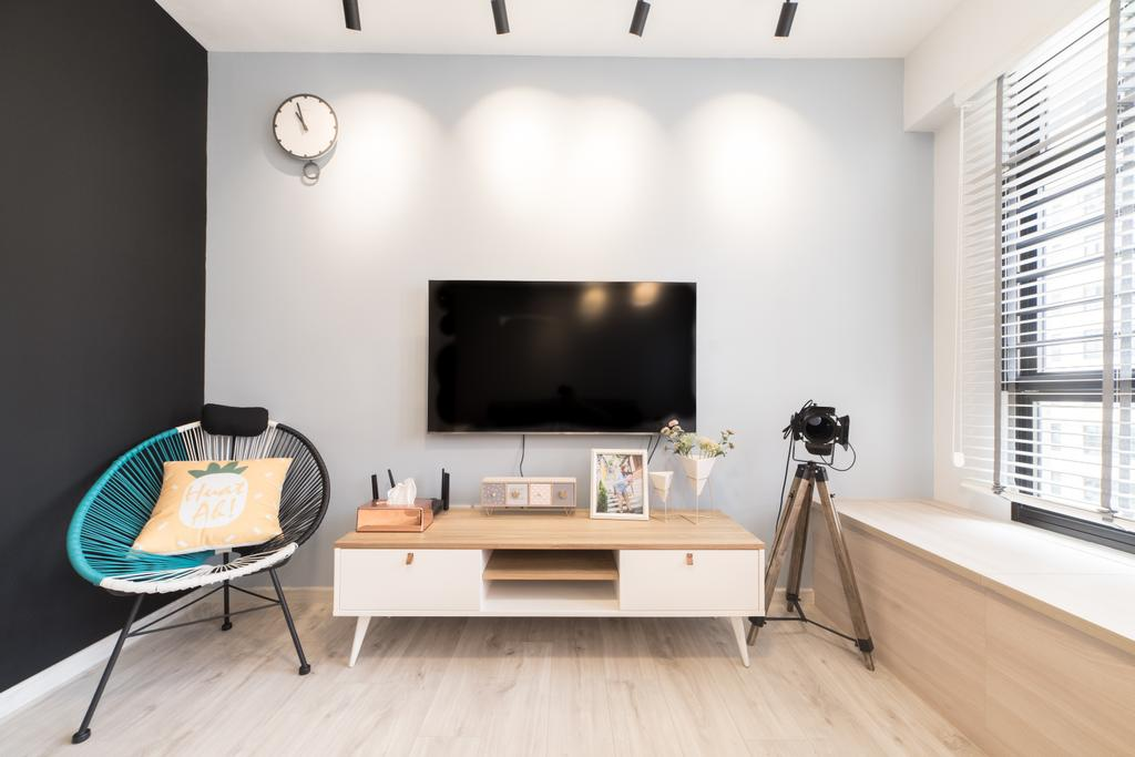 Scandinavian, HDB, Living Room, Toa Payoh East, Interior Designer, Luova Project Services
