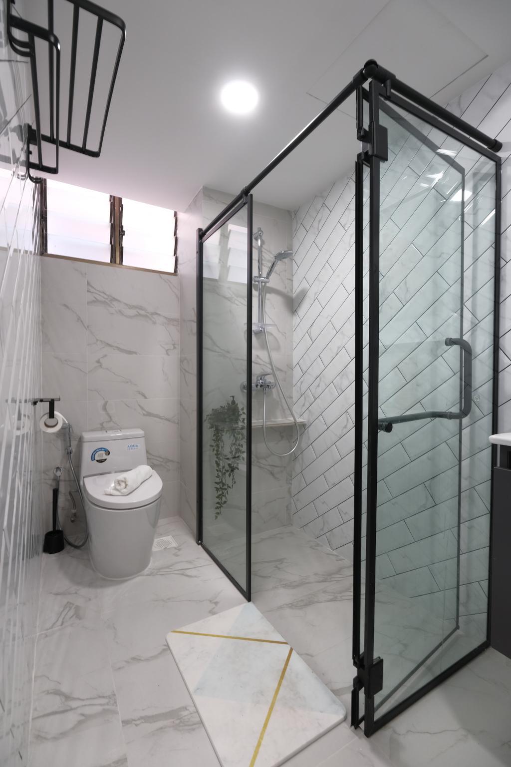 Eclectic, HDB, Bathroom, Yishun Street 81, Interior Designer, Starry Homestead