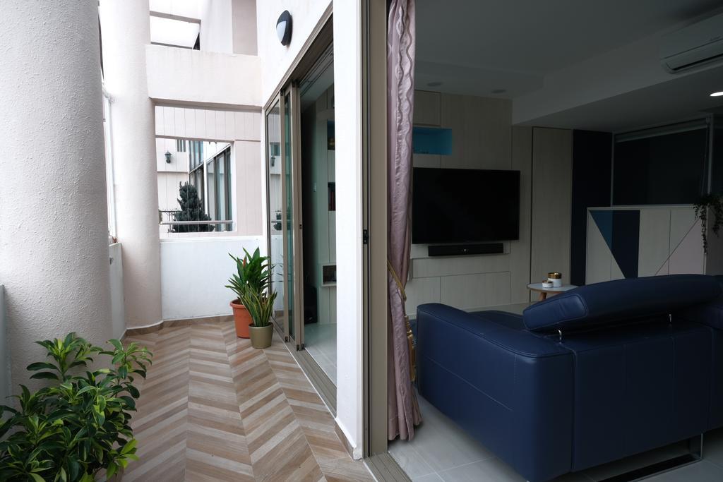 Eclectic, HDB, Balcony, Yishun Street 81, Interior Designer, Starry Homestead