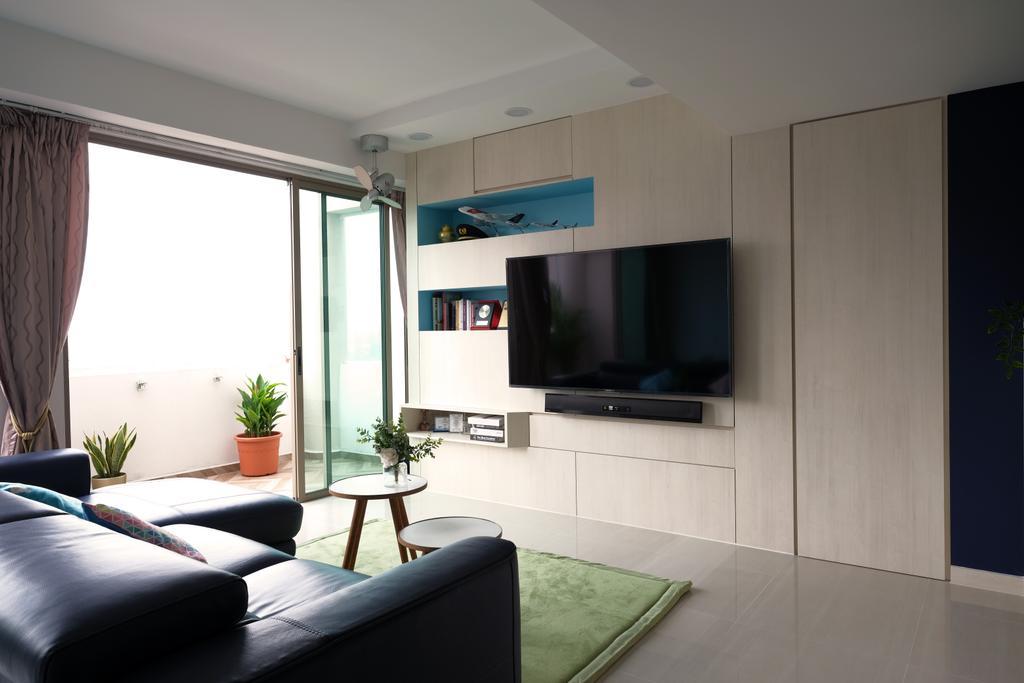 Eclectic, HDB, Living Room, Yishun Street 81, Interior Designer, Starry Homestead