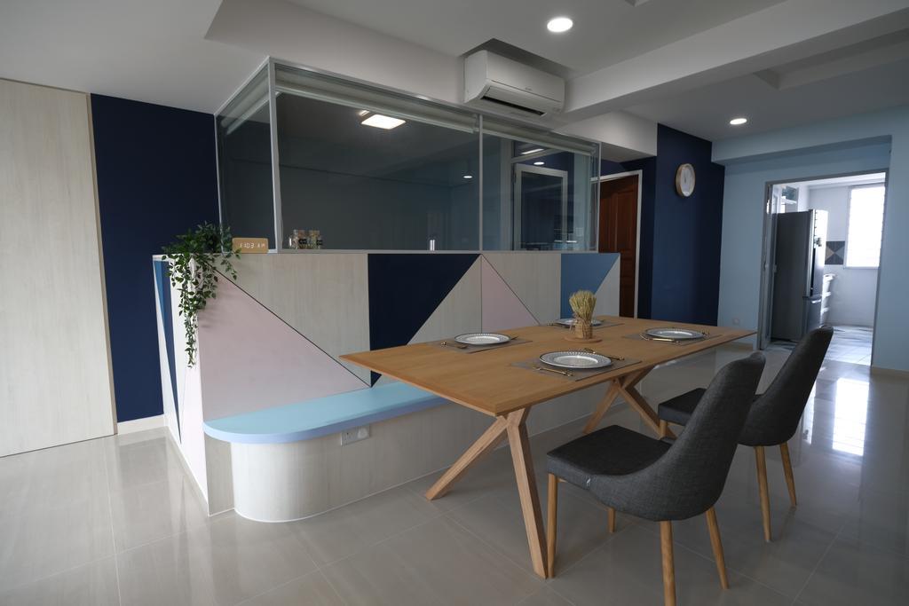 Eclectic, HDB, Dining Room, Yishun Street 81, Interior Designer, Starry Homestead